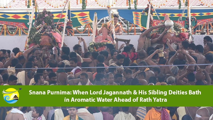 Snana-Purnima-When-Lord-Jagannath-and-His-Sibling-Deities-Bath-in-Aromatic-Water-Ahead-of-Rath-Yatra